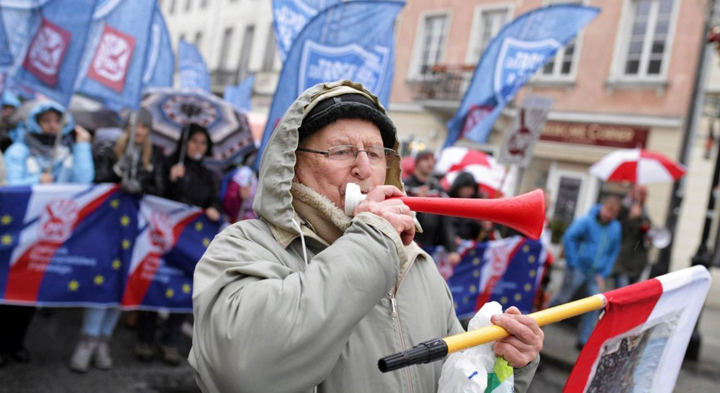 акция протеста учителей в Польше