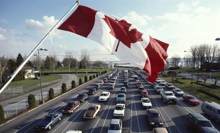 правила вождения в Канаде