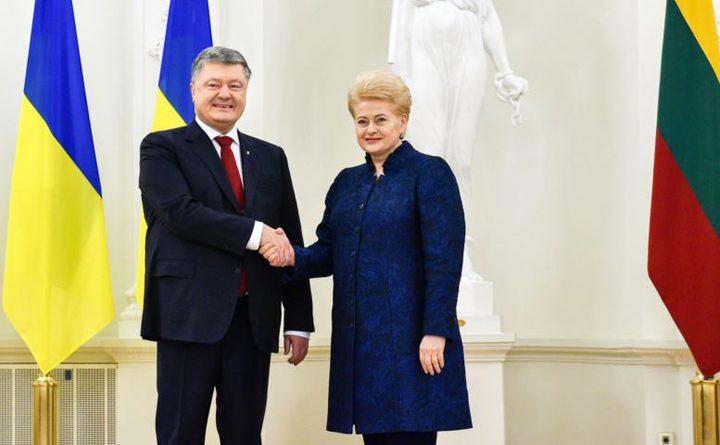 президенти Литви та України