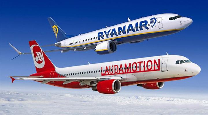 слияние авиакомпаний Ryanair и Laudamotion