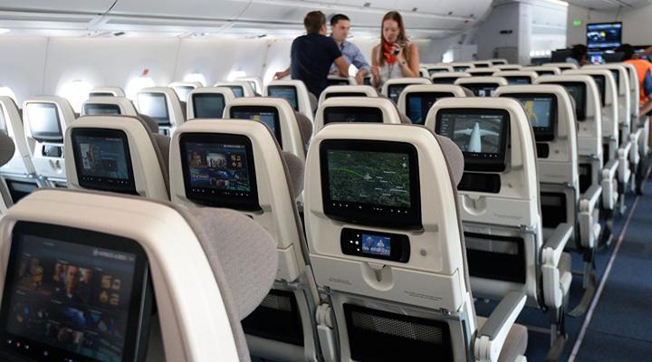відеоспостереження за пасажирами в салонах літаків