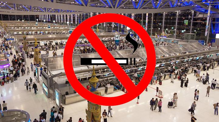 заборона паління в аеропортах Таїланду