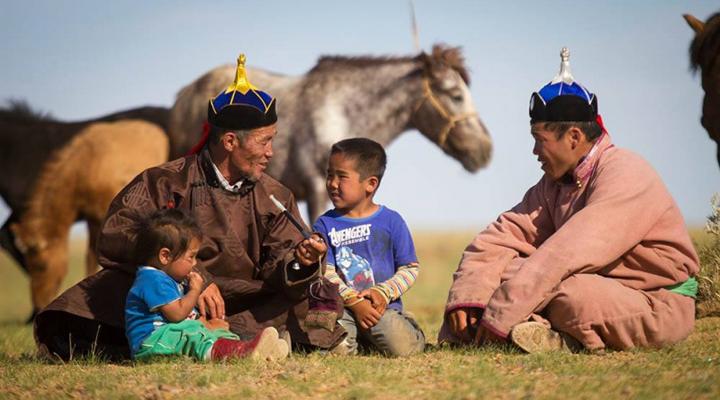 путешественники в Монголии