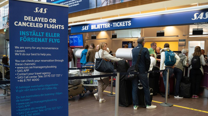 співробітники авіакомпанії Scandinavian Airlines оголосили страйк
