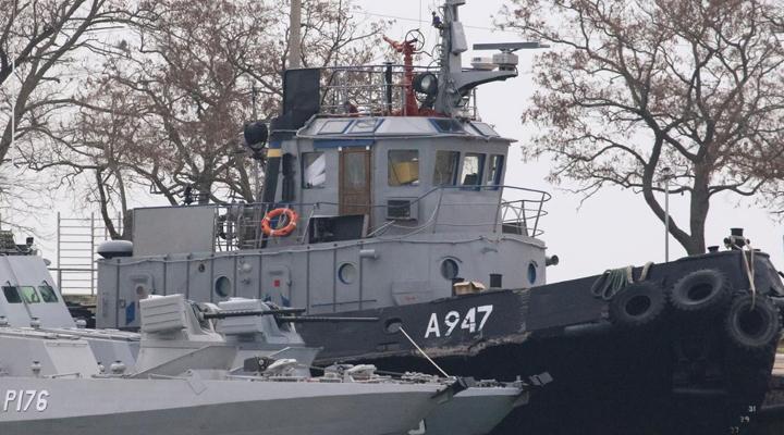 захоплені українські кораблі