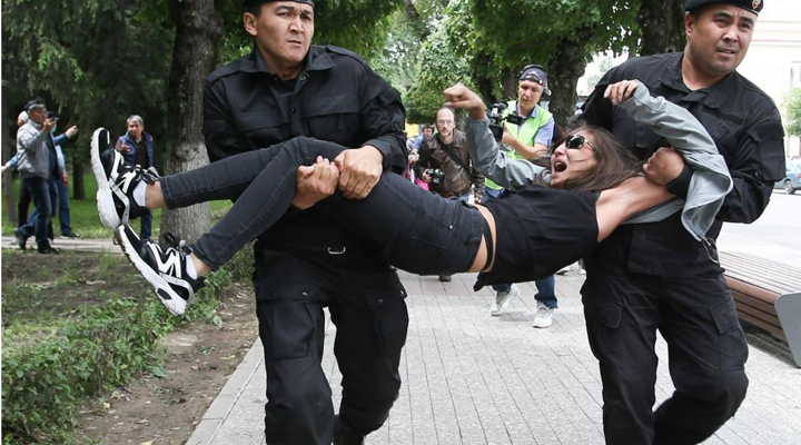 акции протеста в Казахстане