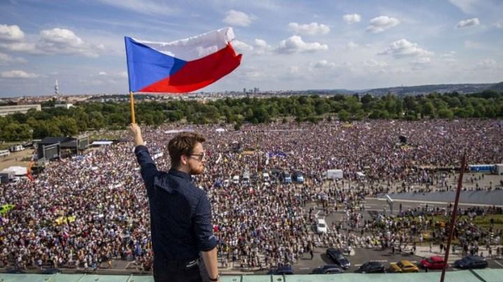демонстрация в чехии