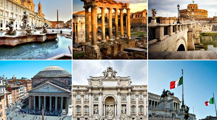 туристы и достопримечательности Рима