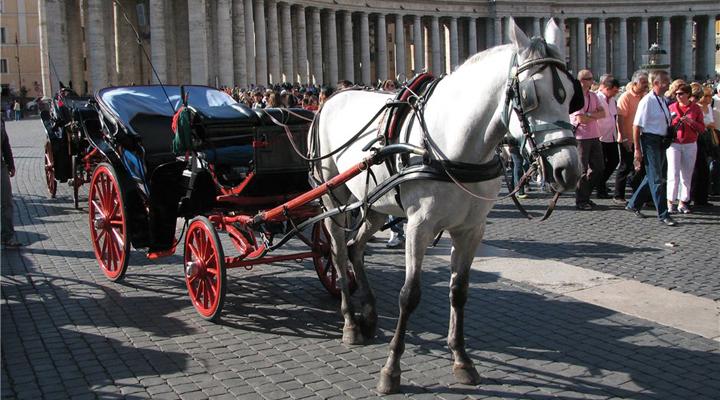 конные экипажи в Риме