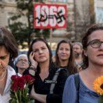 Демонстрация в Чехии против президента и премьер-министра в годовщину советской агрессии