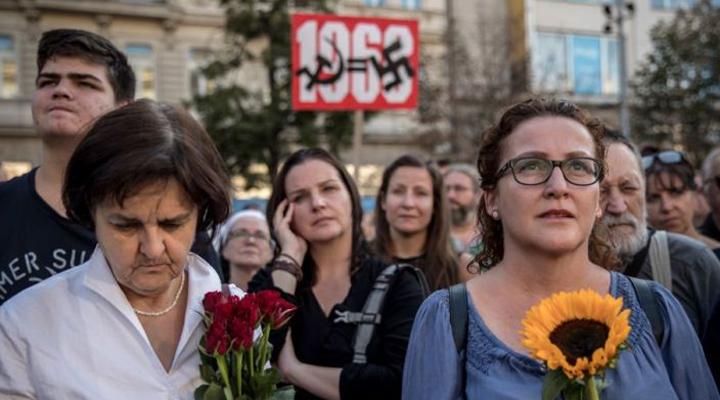 марш протеста в Праге