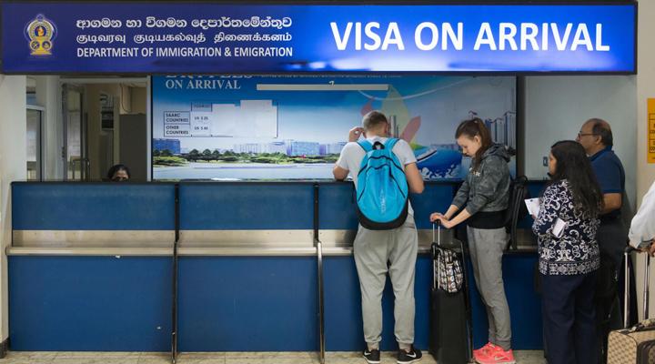 скасовується плата за оформлення в'їзної візи на Шрі-Ланку