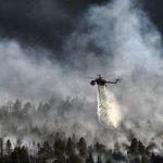 Пожар на греческом острове Закинф. Это популярное место среди туристов
