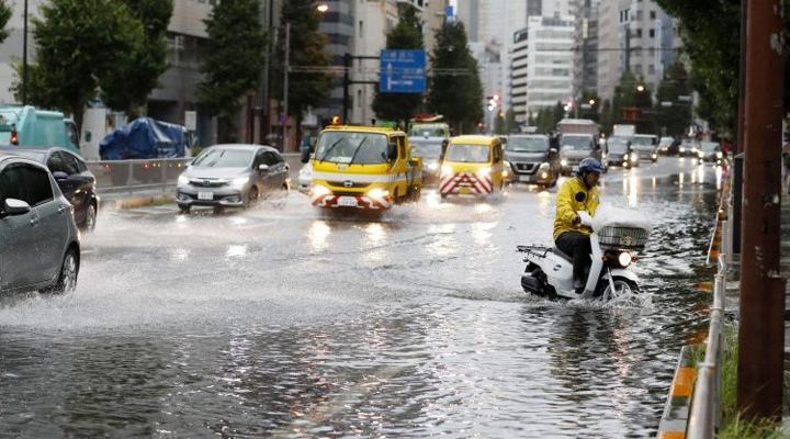 тайфун Тапа в Японии