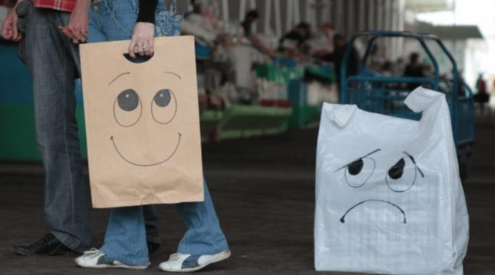 в Дании планируют запретить использование пластиковых пакетов