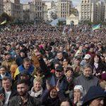 «Не для того, чтобы сдаться». 10 тысяч украинцев протестовали на Майдане