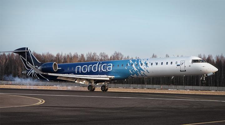 авиакомпания Nordica прекратила осуществление рейсов из столицы Украины в столицу Эстонии