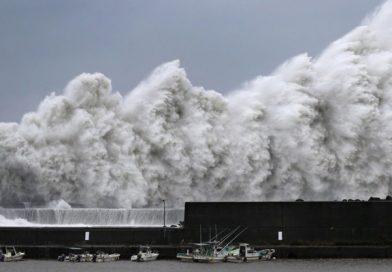 потужний тайфун в Японії