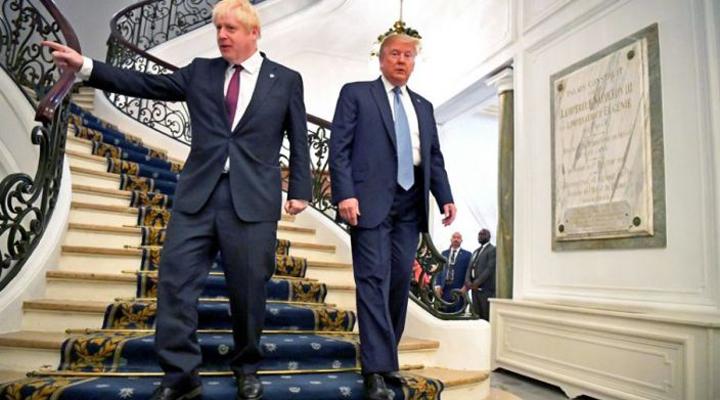 прем'єр-міністр Великобританії Борис Джонсон і президент США Дональд Трамп