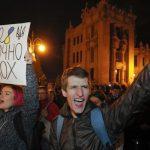 Київ: Протести проти виведення військ з Донбасу