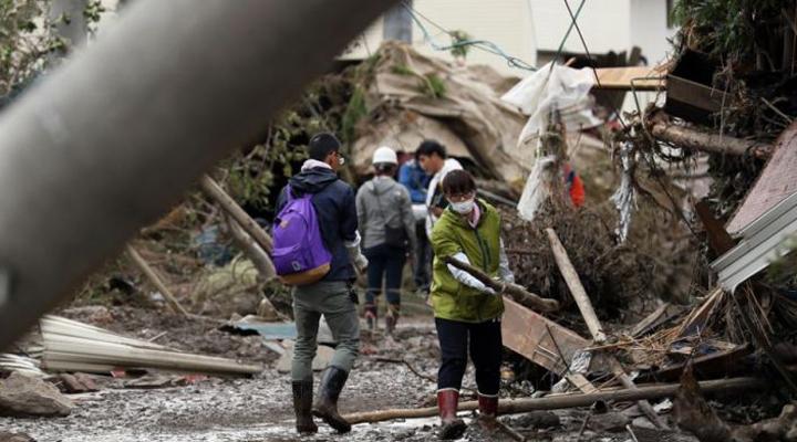 результаты разрушений тайфуна