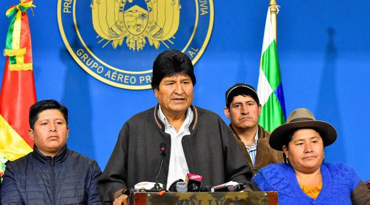 Ево Моралес оголосив про свій вихід у відставку