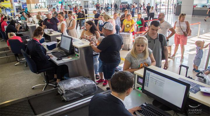 международный аэропорт «Харьков» увеличил пассажиропоток