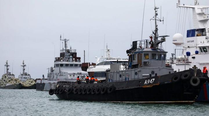 передача Украине трех военных кораблей прошла в нейтральных водах