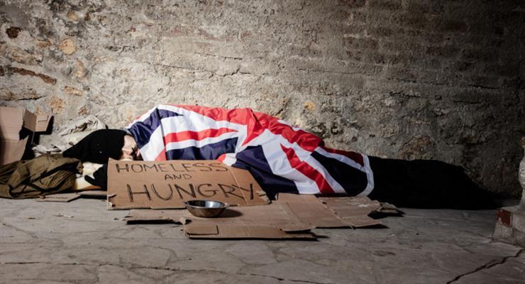бездомные в Великобритании