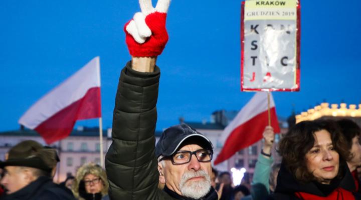акции протеста в Польше