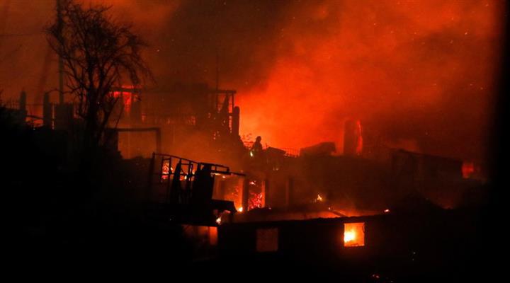 пожежі в чилійському місті Вальпараісо привели до масової евакуації
