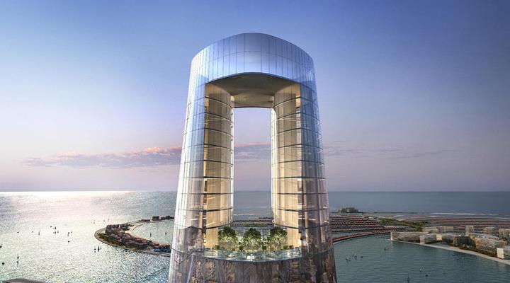 рекордное по высоте здание Ciel строят в Дубае