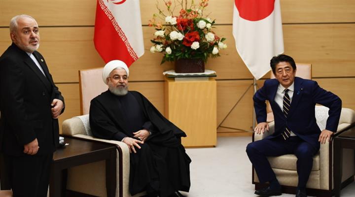 японский премьер Синдзо Абэ и президент Ирана Хасана Рохани