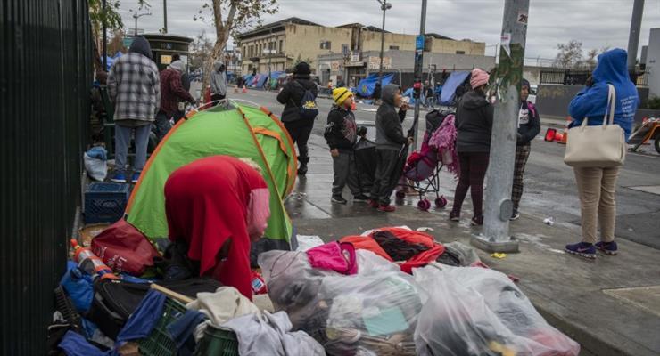Бездомные в Калифорнии