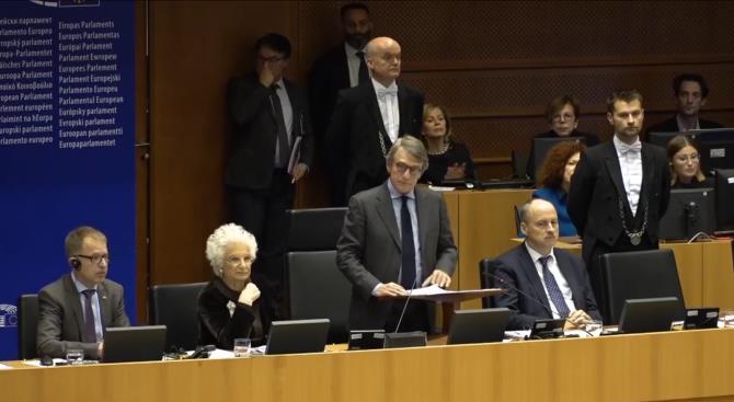 Члены Европарламента отмечают 75-летие освобождения Освенцима