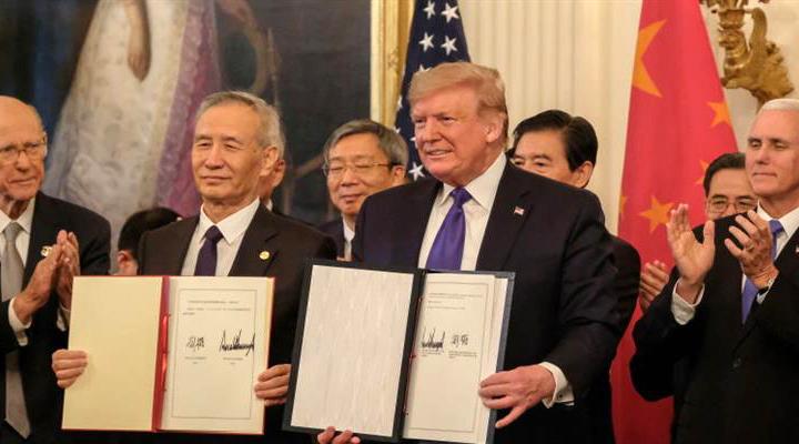 Дональд Трамп назвал историческим торгового соглашение, подписанное с Китаем