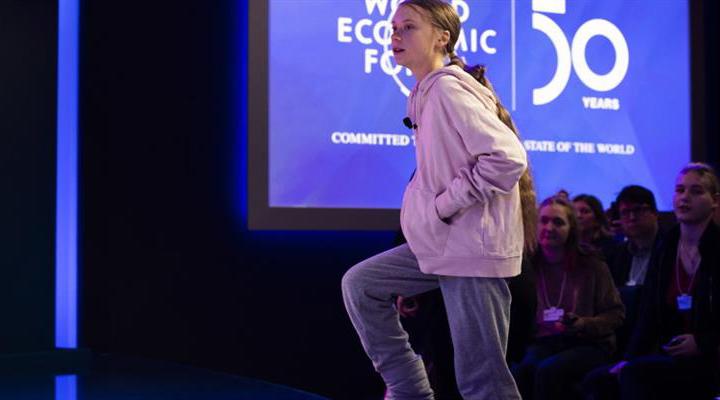 Грета Тунберг взяла участь у Всесвітньому економічному форумі