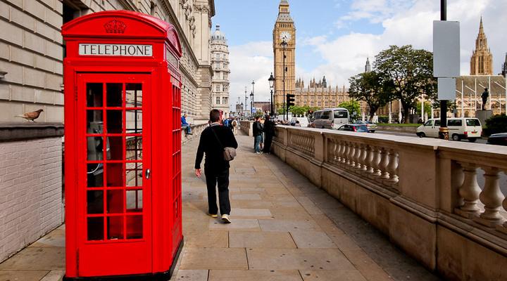 лондонские телефонные будки