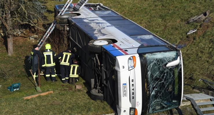 В Чехии разбился автобус с 70 детьми