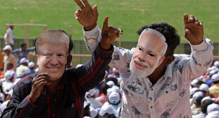 Дональд и Мелания Трамп прибыли с двухдневным визитом в Индию