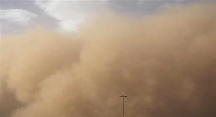 Песчаная буря блокирует Канарские острова (ВИДЕО)