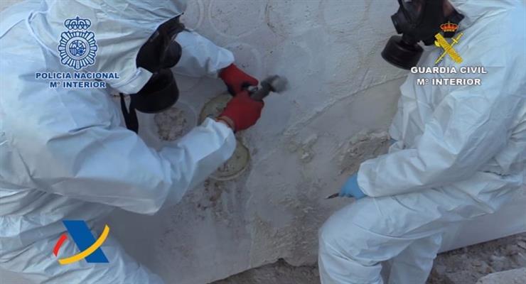 Испания изъяла большое количество наркотиков в мраморе из Мексики