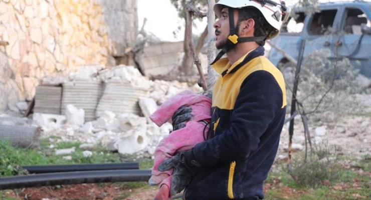 16 мирных жителей были убиты в результате воздушного нападения России на лагерь беженцев Идлиб