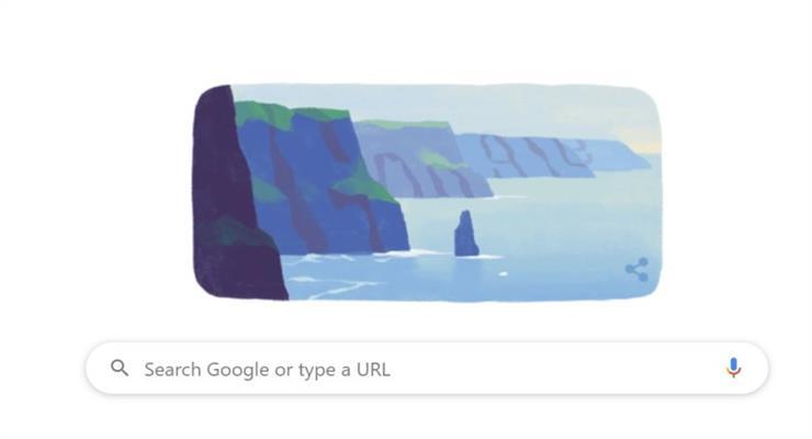 Google чтит Святого Патрика