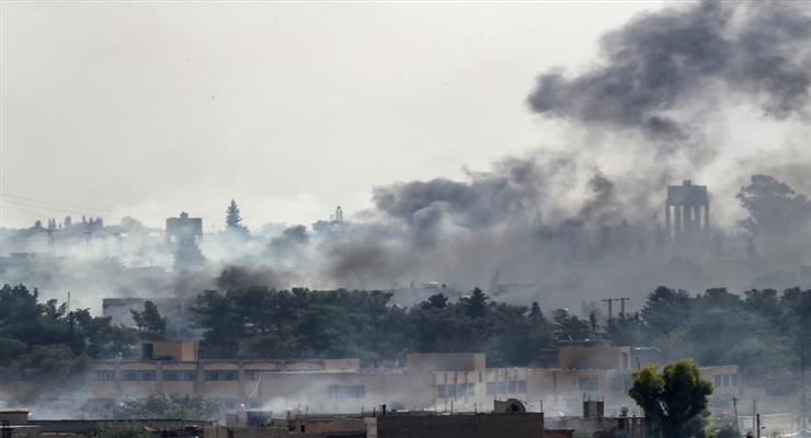 Турецкие силы обстреляли сирийские поселения, жалуясь на убитых солдат