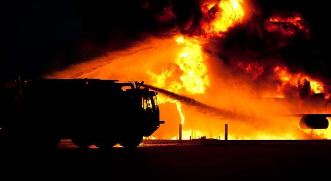 пожар в польском национальном парке