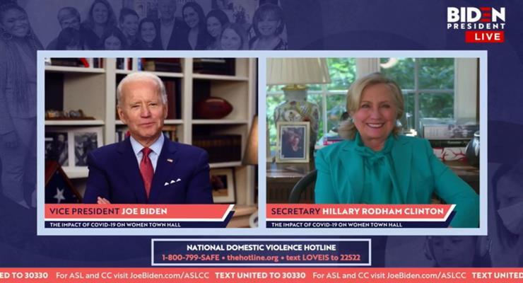 Хілларі Клінтон офіційно оголосила про свою підтримку кандидатури Джо Байдена