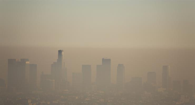 забруднення повітря в районах Китаю зросла