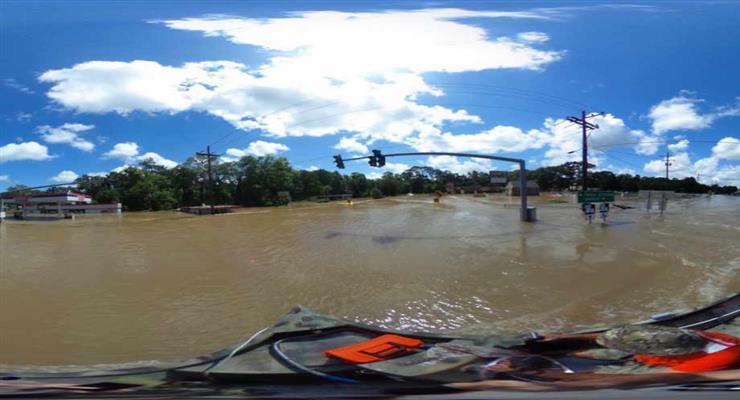 сильное наводнение во Флориде