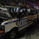 Поліцейський вантажівка врізалася в демонстрантів у Нью-Йорку
